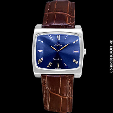 1973 Omega Geneve Vintage Mens Full Size Handwound TV Watch - Stainless Steel