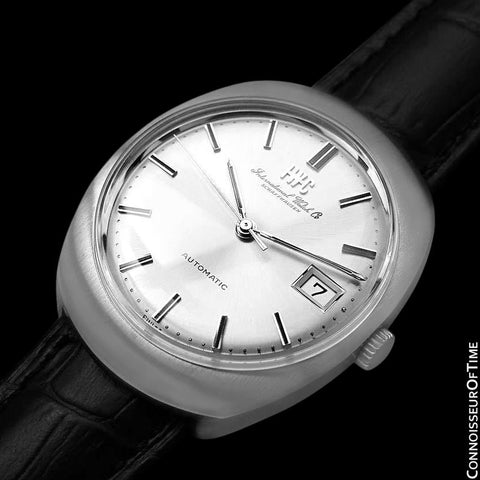 1970's IWC Vintage Mens Watch, Cal. 8541B Automatic, Silver Dial with Date - Stainless Steel