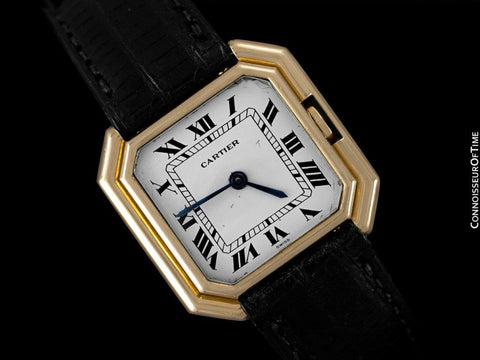 Cartier Ceinture Vintage Mens Midsize Unisex Mechanical Watch - Solid 18K Gold