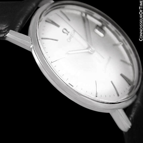 1961 Omega Seamaster Vintage Mens Handwound Watch with Date - Stainless Steel