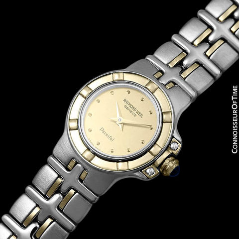 Raymond Weil Parsifal Ladies Two-Tone Bracelet Watch, Ref. 9690 - Stainless Steel & Solid 18K Gold