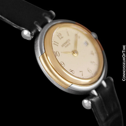 Hermes Winsdor Ladies Watch - Stainless Steel & 18K Gold Plated