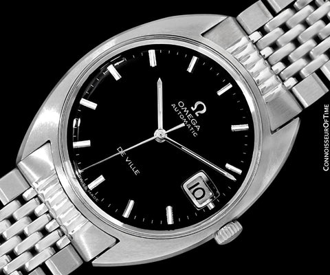 1970 Omega De Ville Vintage Mens Cal. 565 Automatic Watch with Quick-Setting Date - Stainless Steel