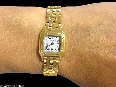 Cartier Panthere Mini (Panther) Special Edition Ladies Watch - 18K Gold
