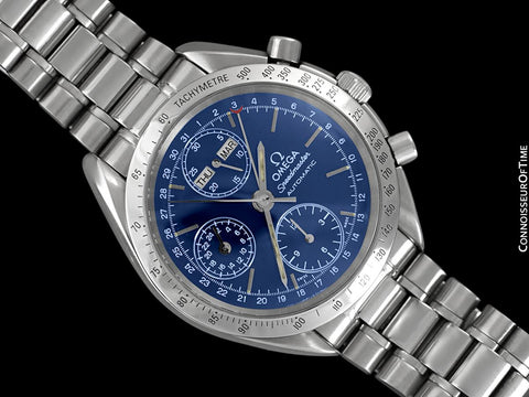 Omega Speedmaster Triple Date Chronograph Watch, Blue Dial, 3521.80 - Stainless Steel