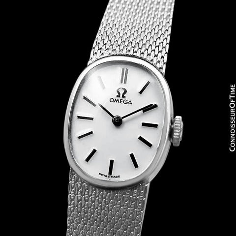 1973 Omega De Ville Vintage Ladies Handwound Luxury Dress Watch with Bracelet - Stainless Steel
