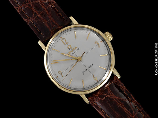 1962 Omega Seamaster Vintage Mens Auotmatic Watch with Cal. 552 - 14K Gold & Stainless Steel