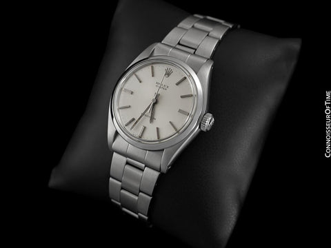 1973 Rolex Oyster Vintage Mens Handwound Watch, Stainless Steel - Classic Design