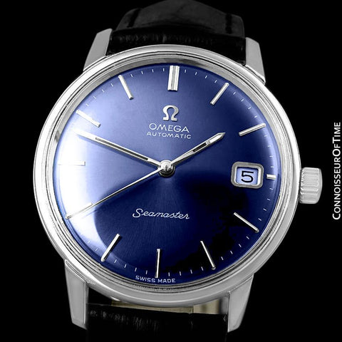 1970 Omega Seamaster Mens Vintage Watch with 565 Movement, Automatic, Quick-Setting Date - Stainless Steel
