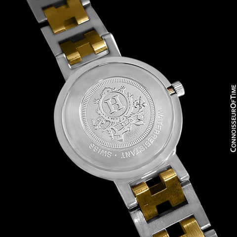 Hermes Ladies Clipper 2-Tone Quartz Watch - Stainless Steel and 18K Gold Plated