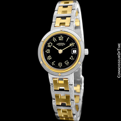 Hermes Ladies Clipper 2-Tone Quartz Watch - Stainless Steel & 18K Gold Plated