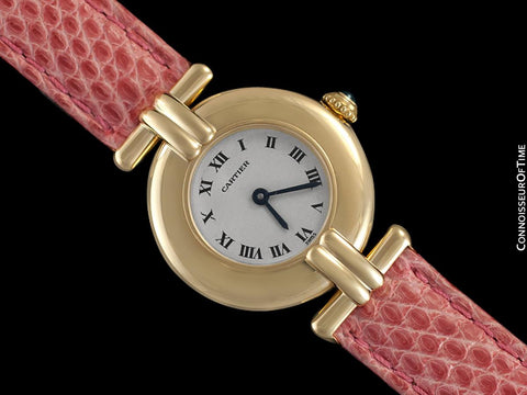 Cartier Colisee Ladies Vendome Watch - Solid 18K Gold