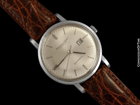 1963 IWC Vintage Mens Watch, Cal. 8531 Automatic with Date - Stainless Steel