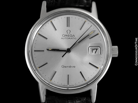 1975 / 1977 Omega Geneve Vintage Mens Automatic Watch with Quick-Setting Date - Stainless Steel