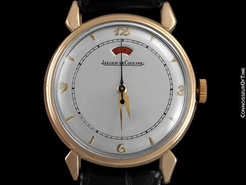 1949 Jaeger-LeCoultre Vintage Mens Powermatic Power Reserve Watch - 18K Rose Gold