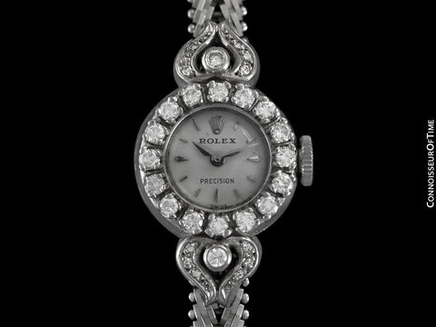 1963 Rolex Ladies Vintage Cocktail Watch - 18K White Gold and Diamonds