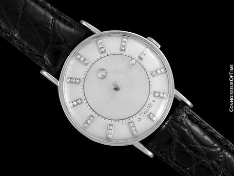 1957 Jaeger-LeCoultre / Vacheron and Constantin Vintage Galaxy Mystery Dial - 14K White Gold and Diamonds