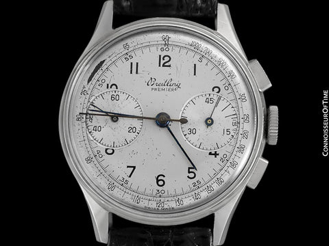 1945 Breitling Premier Vintage Full Size Pilot's Chronograph - Stainless Steel
