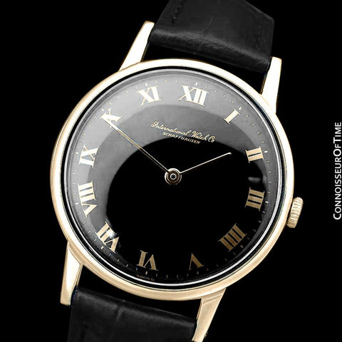 1971 IWC Vintage Full Size Mens Dress Watch, Caliber 423 - 18K Gold Plated and Stainless Steel
