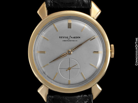 1950's Ulysse Nardin Mens Vintage Chronometer Dress Watch - 14K Gold