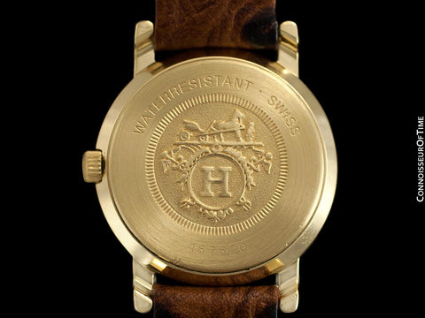 Hermes Sellier Ladies Luxury Watch - 18K Gold