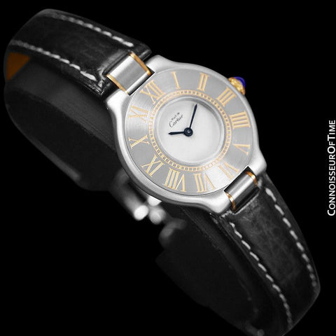 Must De Cartier 21C Ladies Watch - Stainless Steel and 18K Gold