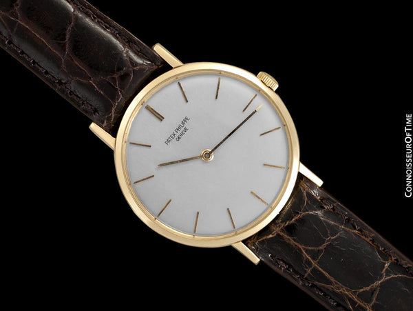 1970 Patek Philippe Vintage Mens Handwound Watch, Ref. 3537 - 18K Gold
