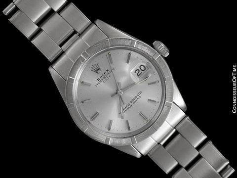 1966 Rolex Date (Datejust) Classic Vintage Mens with Silver Dial - Stainless Steel