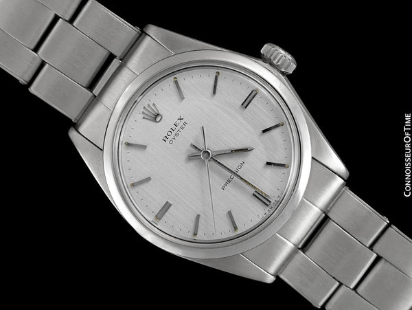 1969 Rolex Oyster Classic Vintage Mens Handwound Watch, Stainless Steel