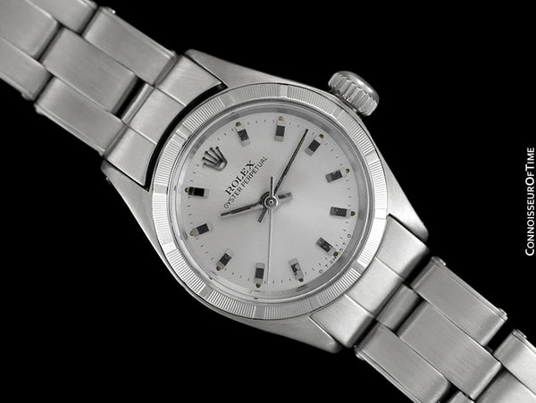 1972 Rolex Oyster Perpetual Ladies Vintage Watch with Silver Dial with No Date - Stainless Steel