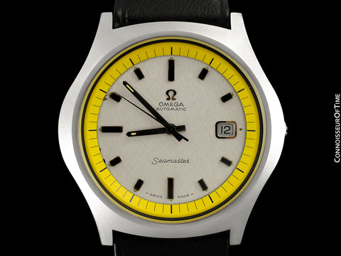 1971 Omega Seamaster Mens Vintage Stainless Steel 42mm Watch with Cal. 565 - Rare 1st Edition Big Yellow with Box & Tag