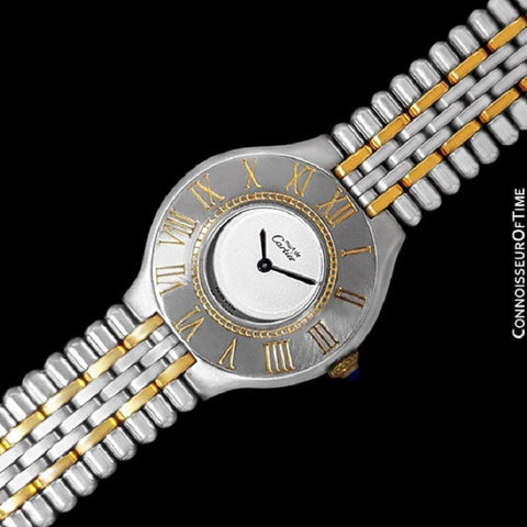 Cartier Must De 21C Ladies Watch - Stainless Steel and 18K Gold