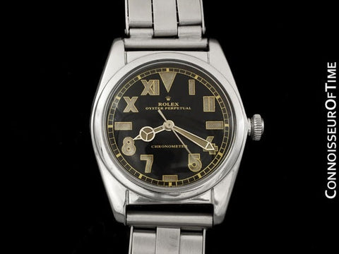 1948 Rolex Vintage Mens Ref. 5050 Bubbleback Watch - Very Fine and Rare