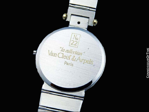 Van Cleef & Arpels VCA La Collection No. 22 Mens Midsize Unisex Watch - Stainless Steel & 18K Gold