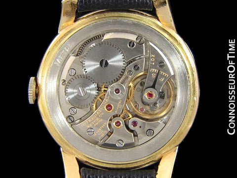 1949 IWC Vintage Mens Cal. 89 Large Watch with Bombe (Bombay) Lugs - 18K Gold