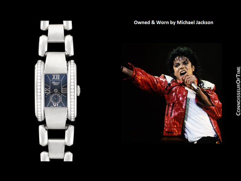 *OWNED & WORN BY MICHAEL JACKSON* - Chopard La Strada Stainless Steel & Factory Diamond Watch