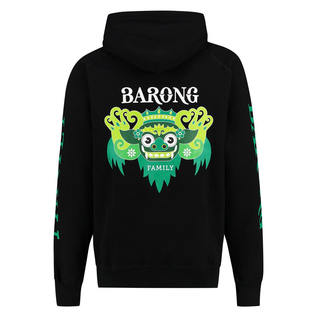 BARONG FAMILY BLACK AND GREEN HOODIE