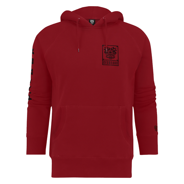 CESQEAUX RED LOGO HOODIE