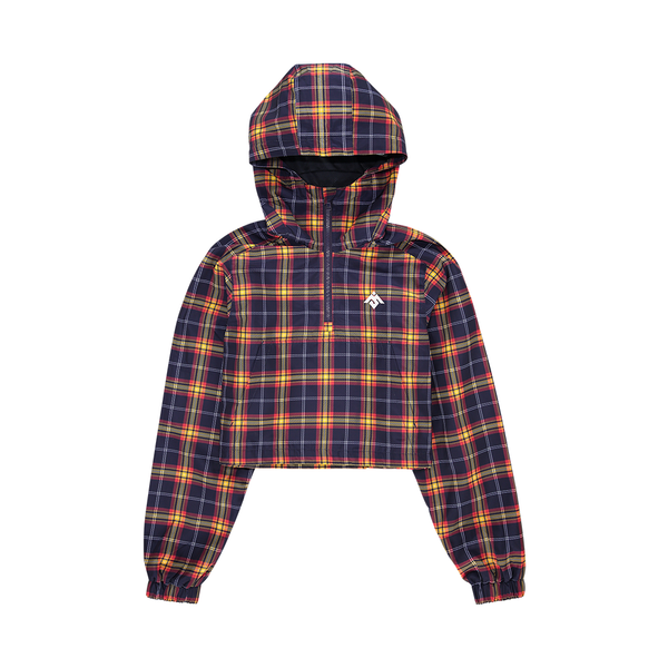 MOKSI TARTAN WOMENS CROPPED JACKET