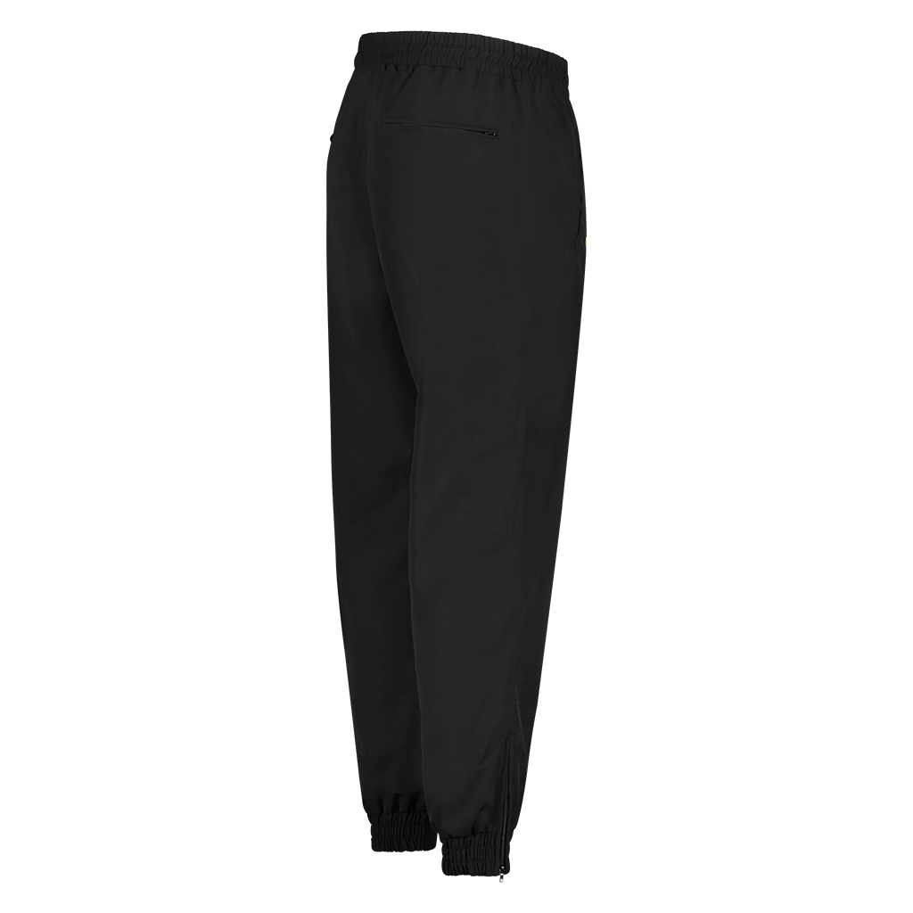 MOKSI BLACK AND YELLOW TRACK PANTS