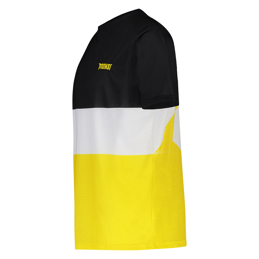 MOKSI BLACK AND YELLOW TEE