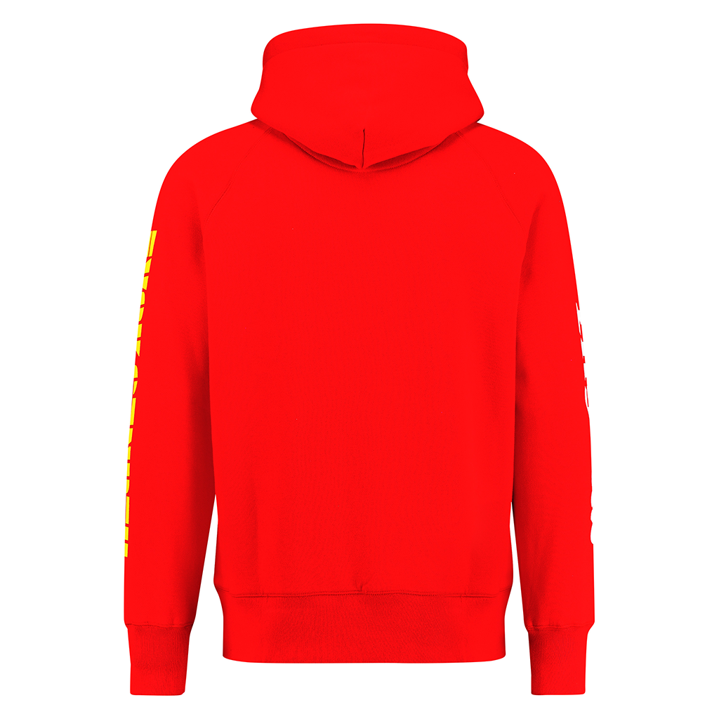 LNY TNZ FVCK GENRES RED HOODIE
