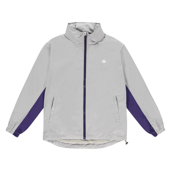 MOKSI GREY AND PURPLE TRACK JACKET