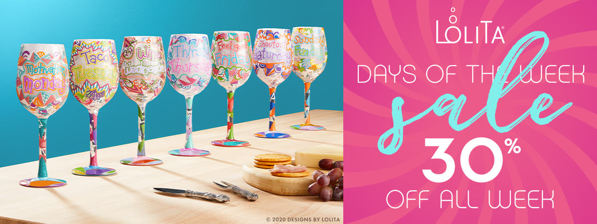 Days of the Week Glasses