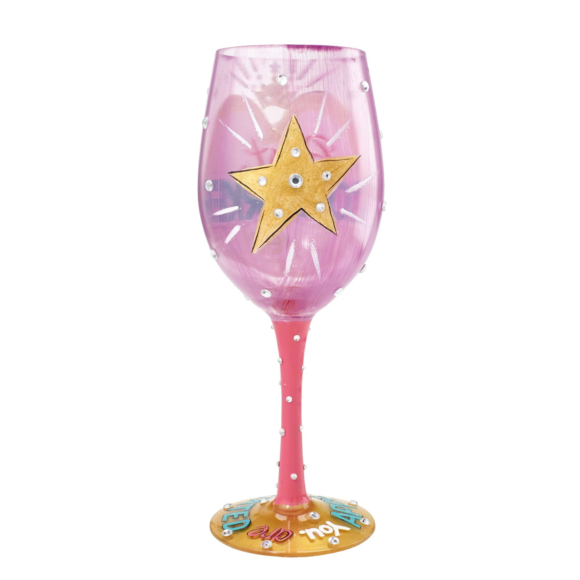 "7837b1d1c06e ""Best Coworker Ever"" Hand painted Wine Glass"