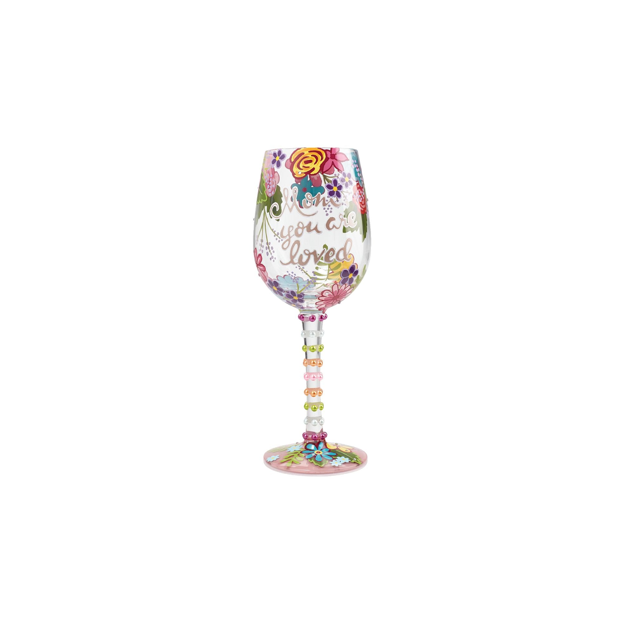 unique hand painted wine glasses dotted lolita mom you are loved hand painted wine glass glasses designs by