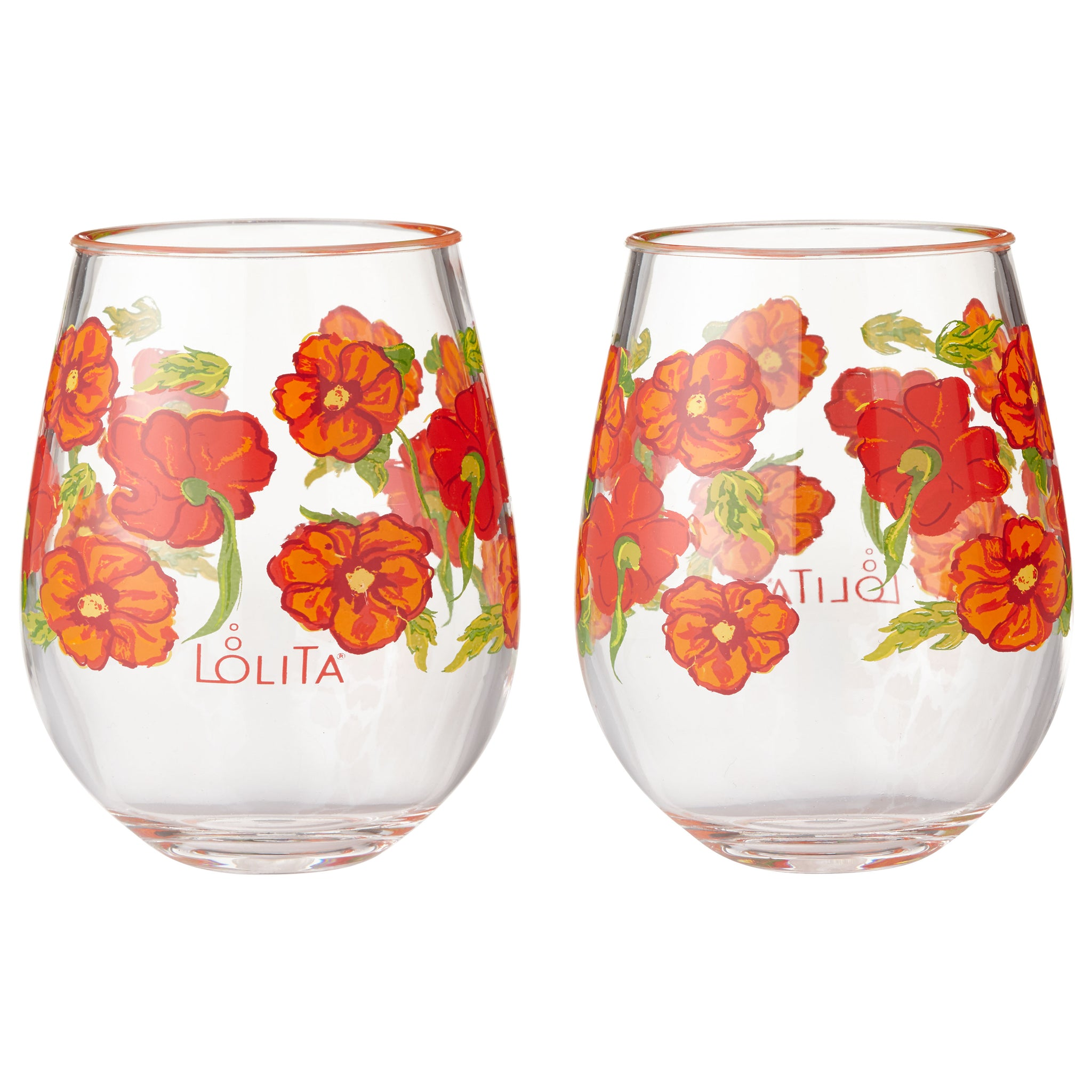 1d5130cbb67 Best of the Bunch Acrylic Stemless Wine Glasses, Set of 2, 15 oz.