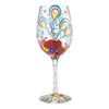 Happy Friendversary Blown Glass Wine Glass, 15 oz.
