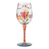 Happy Birthday Balloons Blown Wine Glass, 15 oz.