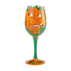 """Get Smashed"" Hand-Painted Artisan Wine Glass, 15 oz."